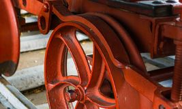 Close-up obsoleto antiquado do estoque de rolamento railway imagem de stock