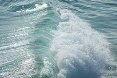 Close up of ocean wave breaking Royalty Free Stock Photography