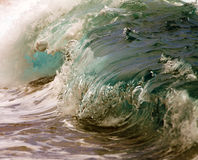 Close Up Ocean Wave Breaking Stock Image