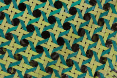 Close up of the octagonal weave pattern Stock Photo