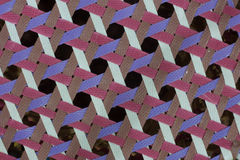Close up of the octagonal weave pattern Royalty Free Stock Photos