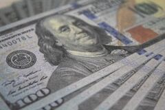 Free Close Up Of 100 Dollar Bills Royalty Free Stock Photo - 215518065
