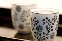 Close-up Of 2 Cups On A Tray Royalty Free Stock Photos