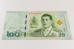 Free Close Up Of 20 Thai Baht Banknote Texture Stock Images - 161536074