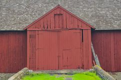 Free Close Up Of A Big Red Barn With Large Double Doors In Chaddsforge Pa. Royalty Free Stock Photos - 117838488