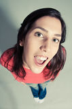 Close-up Of A Cheerful Young Woman Stock Photo