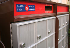 Close Up Of A Community Mailbox Royalty Free Stock Image