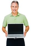Close-up Of A Man Showing Laptop Stock Images