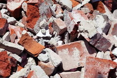 Close Up Of A Pile Of Bricks Royalty Free Stock Photography