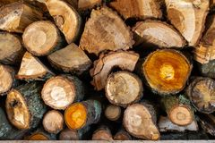 Free Close Up Of A Pile Of Chopped Wood Ready For Winter Royalty Free Stock Images - 140962069