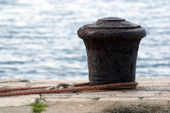 Close Up Of A Rusty Bitt Royalty Free Stock Photography