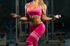 Free Close-Up Of A Woman Doing Biceps Exercise Royalty Free Stock Photo - 52592405