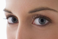 Close Up Of A Young Woman S Eyes Stock Images