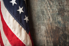 Free Close-up Of American Flag On Old Boards Royalty Free Stock Image - 46930456