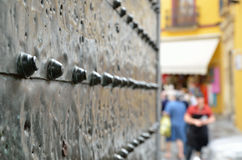 Close-up Of An Ancient Gate Stock Photography