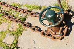 Close Up Of Anchor Chain Royalty Free Stock Images
