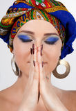 Close-up Of Attractive Woman In Oriental Turban Royalty Free Stock Image