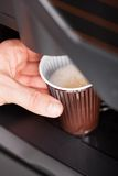 Close Up Of Automatic Coffee Machine Royalty Free Stock Images