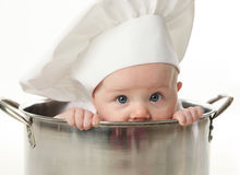 Free Close Up Of Baby Sitting In Stock Pot Stock Photography - 17727382