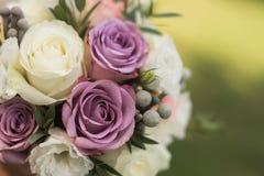 Close Up Of Beautiful Bridal Bouquet Stock Photo