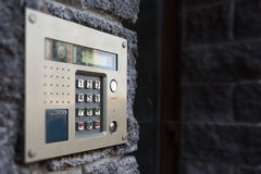 Close-up Of Building Intercom Royalty Free Stock Image