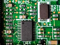 Free Close-up Of Circuit Board With Integrated Circuits, Resistors And Capacitors Stock Image - 113305481