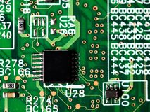 Free Close-up Of Circuit Board With Integrated Circuits, Resistors And Capacitors Royalty Free Stock Photo - 114928065