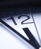 Close Up Of Clock Hands Royalty Free Stock Photo