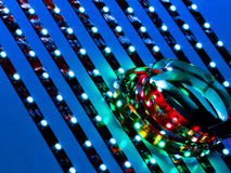 Close Up Of Colored And White LEDs Stock Photo