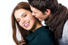 Close Up Of Couple Foreplay Stock Photo