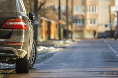 Free Close-up Of Dirty Car Parked On A Side Of The Street Stock Images - 107752184