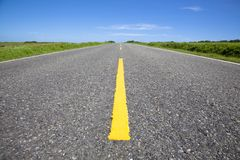 Close Up Of Empty Road Royalty Free Stock Images
