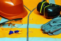 Free Close-up Of Goggles, Helmet, Rubber Gloves, Birushi. Individual Royalty Free Stock Image - 104942806