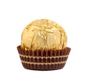 Close Up Of Gold Chocolate Bonbon. Stock Images