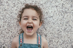 Free Close-up Of Laughing Little Girl Stock Image - 66392531