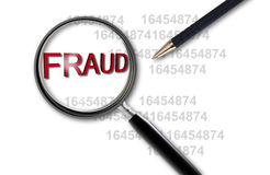 Free Close Up Of Magnifying Glass On Fraud Stock Images - 37423984