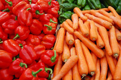 Close Up Of Many Colorful Vegetables Stock Images