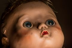 Close Up Of Old Neglected And Unloved Plastic Doll . Stock Photography