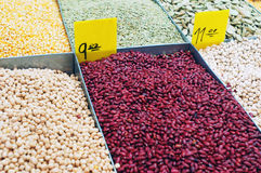 Close Up Of Peas And Kidney Beans Royalty Free Stock Images