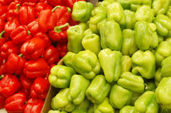 Close Up Of Peppers On Market Stand Royalty Free Stock Photos