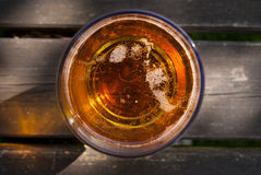 Close Up Of Pint Of Cider From Above Royalty Free Stock Images