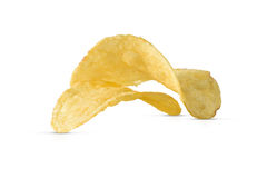 Close Up Of Potato Chips Isolated Royalty Free Stock Photo