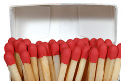 Close Up Of Red Matches Stock Images