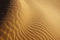 Close-up Of Sand Pattern In The Desert Royalty Free Stock Photo