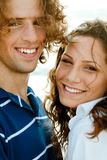 Close-up Of Smiling Couple Royalty Free Stock Photography
