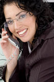 Close Up Of Smiling Woman Talking On Phone Royalty Free Stock Image