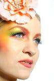 Close-up Of Summer Fashion Creative Eye Make-up Royalty Free Stock Photos