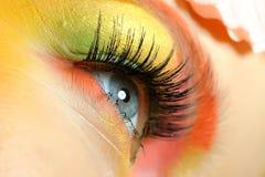 Close-up Of Summer Fashion Creative Eye Make-up Stock Photo