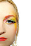 Close-up Of Summer Fashion Creative Eye Make-up Royalty Free Stock Images