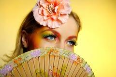 Close-up Of Summer Fashion Creative Eye Make-up Stock Photos
